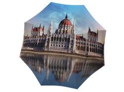 Schöne Budapest Secinic Spot Printed Design 3 Falten Automatisches Reisen Regenschirm