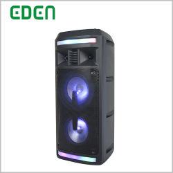 Pilha recarregável portátil profissional sem fio DJ Karaoke Carrinho de caixa de som Alto-falante PA Bluetooth com luz LED ED-606