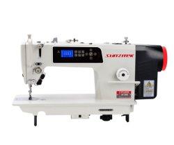 Acionamento Direto agulha única Lockstitch máquina de costura com cortador de linhas automático e levantamento de pé