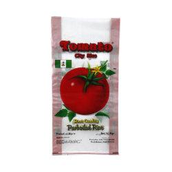 Sacchetto tessuto pp di plastica personalizzato del riso/farina/alimentazione/fertilizzante BOPP della stampa variopinta trasparente di marchio 100kg 50kg 25kg