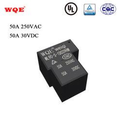 Wl 90 T90 유형 30VDC 50A 전력 PCB 릴레이 DC3V DC5V DC6V DC9V DC12V DC48c DC24V DC48V DC110V AC12V AC24V 0.9W 0.6W 1.1W 2va