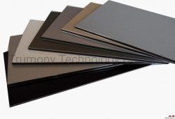 4 mm onbreekbaar PVDF Aluminium Composiet Panel Dubbel gecoat buigpaneel Schuif Brushed Metal Finish wandbekleding paneel