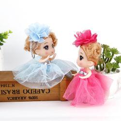 Versão coreana do chaveiro boneca Fuzzy 12cm crianças Bonecas da revestidas com brinquedos de plástico noiva de Casamento Bonecos