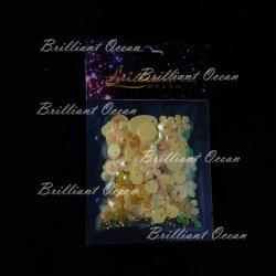 의류를 위한 분류된 모양 황색 불꽃 Sequins