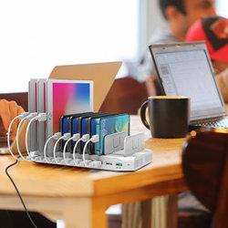 선창 충전기 보편적인 다중 장치 USB 충전소 탁상용 USB 충전기 허브