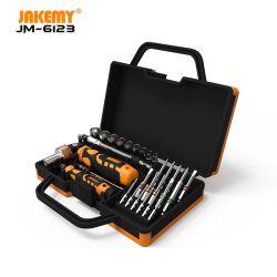 Ferramenta manual de hardware para chaves de parafusos de manutenção profissionais Jakemy 31 em 1 Com bits Cr-V com anel de cor para uso doméstico