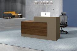 Handelsluxuxbüro-Möbel BADEKURORT Vorderseite-Entwurfs-Panel-Empfang-Schreibtisch für Verkauf