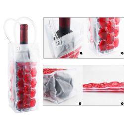 Fabrik-Zubehör Schnelle Lieferung PVC Weinflasche Tragetaschen Gel Kühl Kühleikühler Weinbeutel für Bier