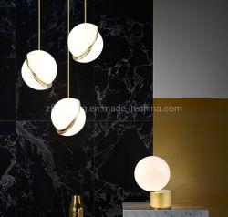 De Hangende Lamp van de Bal van het Flintglas van de Decoratie van het hotel om de Verlichting van de Tegenhanger met AcrylLampekap zf-cl-086