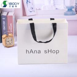 Роскошный подарок женская сумка магазинов одежды белый розничная упаковка картон пакет с лентой ручка