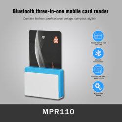 NFC Contact IC magnétique 3 en 1 EMV Bluetooth mPOS Lecteur de carte bancaire mobile (MPR110)