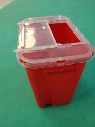 حاوية نفايات حادة سعة 8 لترات يمكن التخلص منها بعد الاستخدام للتخلص من النفايات السريرية
