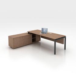 최신 사무실 공간 사용된 금속 테이블 다리 현대 사무실 행정상 Deks 사무용 가구