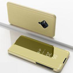 Supporto ribaltabile, specchio per finestra intelligente, rivestimento interno in pelle, retro del telefono cellulare Coperchio per vivo S5