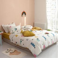 100%년 면 능직물 직물 인쇄 소녀의 소년의 룸 침대 고정되는 아기 침구 세트