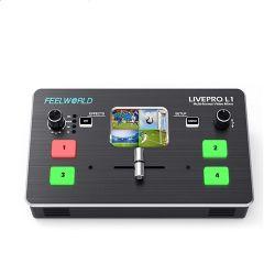 Feelworld Livepro L1 Поддержка сигналов разных форматов видео переключатель заслонки смешения воздушных потоков входных данных с камеры производства USB3.0 Live Streaming Youtube