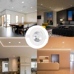 أضواء LED على الأسفل ضوء بيان LED جديد للإضاءة الموضعية للإضاءة الخلفية وضوء LED للإضاءة المربعة وضوء LED المستدير، 85-265 فولت تيار متردد جديد 6 واط 9واط ومبيت أبيض 12 واط