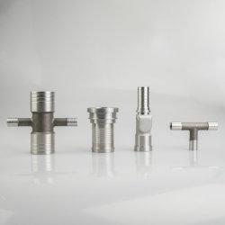中国高精度ステンレス鋼 / アルミ / 黄銅 CNC 加工アダプタ、フランジ、配管継手部品