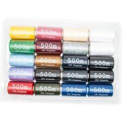 100% à haute ténacité filés de polyester à filaments continus du fil à coudre à bon marché 40/2 500m