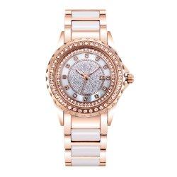 Dames de van uitstekende kwaliteit van de Luxe maken het Ceramische Horloge van de Armband waterdicht (jy-ST084)