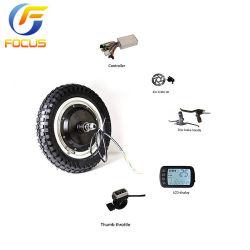 Vélo électrique Kits complet 12 pouces de moyeu de roue Gearless électrique avec le contrôleur d'accélérateur du moteur