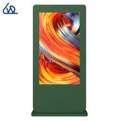 65 Alleen LCD van de Tribune van de duim Openlucht Dubbele Zij Digitale Signage