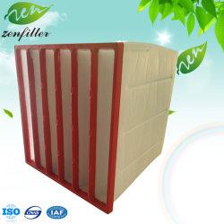 中国の製造業者のABSプラスチックフレームとの中型の効率袋のエアー・フィルタの罰金ポリウレタンポケットエアー・フィルタ