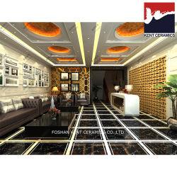 標準的な様式の黒の金カラー磁器の十分に艶をかけられた磨かれた床および壁の陶磁器のガラス化されたタイル