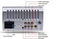 7 van het Dashboard van de duim de RadioSpeler Van verschillende media 7018b van de Auto met Video 1080P