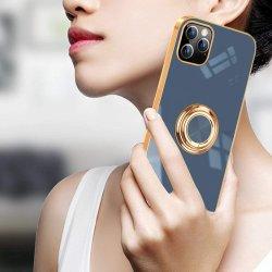 독특한 Electrol도금 소프트 TPU 메탈 링 브래킷 로고 휴대폰 iPhone 12 Mini 11 PRO용 케이스