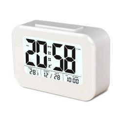 Большой ЖК-дисплей цифровой термометр для комнаты с часами календарь сигнализации температуры