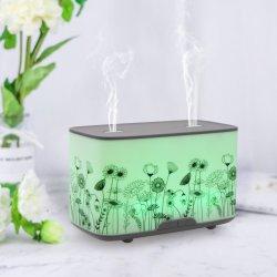 2021 أحدث تصميم جديد ساخن خزان مزدوج aroma Diffuser فوهات خزان المياه هي وحدة فاحٍ لاسلكية للعلاج بالعطور مع 7 ألوان ناشر ضوء معطر على شكل مصباح