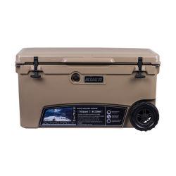 casella del dispositivo di raffreddamento del ghiaccio 70qt con la casella di plastica del dispositivo di raffreddamento delle rotelle