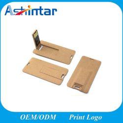 친환경 미니 카드 USB 스틱 환경으로 생물분해성 종이 메모리를 보호합니다 USB 드라이브