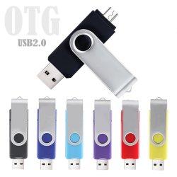 Pen Drive USB OTG Micro Stick USB Flash Drive 128 GB de almacenamiento externo de 64GB Pendrive 32GB 16 GB de Memoria Stick