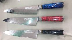 Damaskus-Stahl-Küche-Messer-Tischbesteck gesetztes Jdh1020 der Qualitäts-67layer