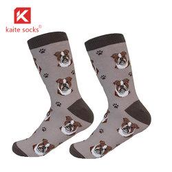 Os homens de socks tripulação cão animal de estimação vestir meias de algodão
