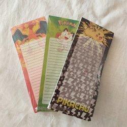 Pikachu el Bloc de notas Bloc de notas de papel adhesivo nota con imán