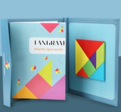 어린이용 퍼즐 장난감 목재 Creative Books Magnetic Tangram