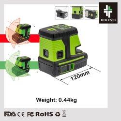 Espíritu haz de luz verde de la Cruz Cruz Mini Nivel Láser de línea