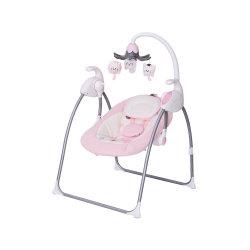 Oscilación simple bebé acunando columpio cuna eléctrica & Baby Bouncer columpio con luces y melodías Baby Rocker de lujo de la barra de Juguetes eléctricos