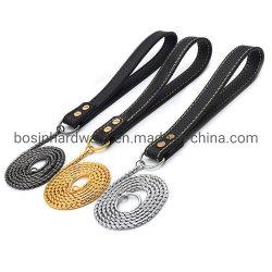 P de la cadena de la serpiente de acero inoxidable Correa del perro de mascota