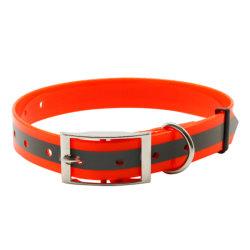 Collana di nylon rivestita riflettente dei collari dell'animale domestico del cane del Choker di TPU per il cane nessun funzionare ambulante di tiro