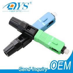 China fábrica FTTH SC APC/UPC montaje de campo de conexión rápida de fibra Conector óptico/óptico conector rápido para cable de caída