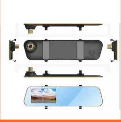 4.3 Caméra miroir Voiture DVR Vidéo Full HD 1080p avec l'enregistreur DVR DASH de la came de la vue arrière