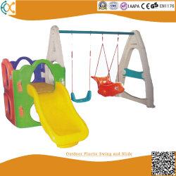 Fabrik-Preis-kommerzieller im Freienspielplatz-Plastikschwingen-Set mit Plättchen