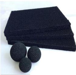 Gomma piuma della spugna del filtro dal carbonio attivata antibatterico reticolare della maglia