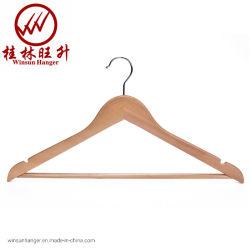 Vêtements solides adulte naturel Hanger Winsunhangar en bois personnalisé