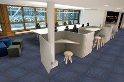 Fábrica de meteoros Wholesales Nuevo Diseño 61x61cm nueva superficie de apoyo de poliéster PVC Hotel Comercial Oficina en casa Losetas Alfombra