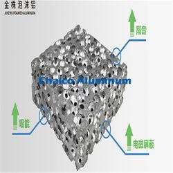 Kugelförmiges perforiertes Aluminiumschaumgummi-Metall